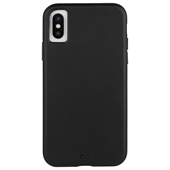 Case-Mate - Barely There Leather Case for iPhone Xs/X - Black