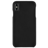 Case-Mate - Barely There Leather Case for iPhone Xs Max - Black