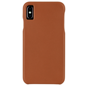 Case-Mate - Barely There Leather Case for iPhone Xs Max - Butterscotch