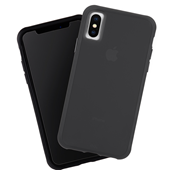 Case Mate - Tough Matte Case Plus Glass Screen Protector for iPhone Xs Max - Black